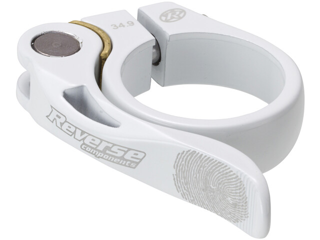 Reverse Long Life Saddle Clamp 34,9mm, white